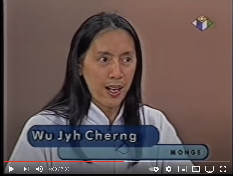 Mestre Wu Jyh Cherng em programa de TV